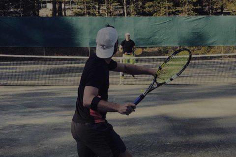 Skellefteå Tennisklubb Tennis utomhus grus mörk slide 1