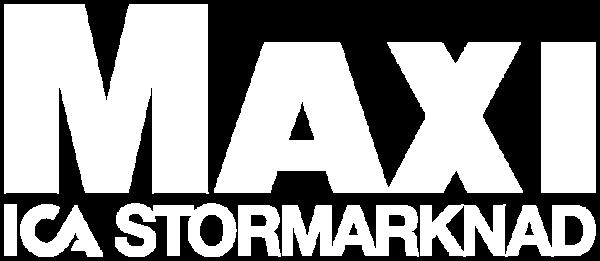 Huvudsponsor ICA Maxi Stormarknad Skellefteå Skellefteå Tennisklubb vit logo